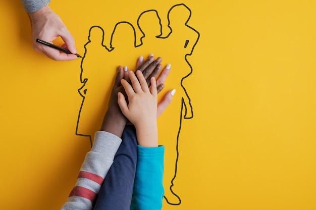 Imagen conceptual de los valores familiares.