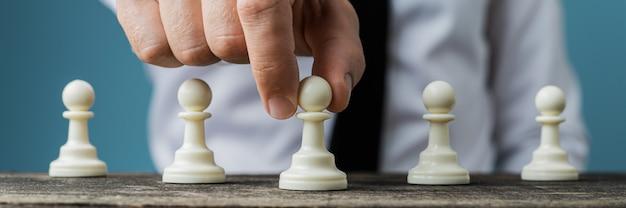 Imagen conceptual de la visión y táctica empresarial.
