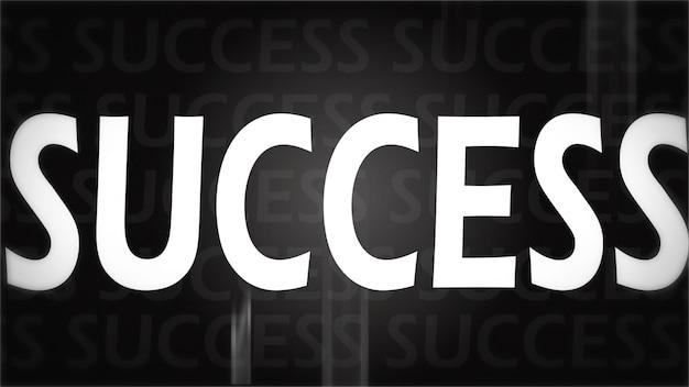 Imagen creativa del concepto de éxito negro