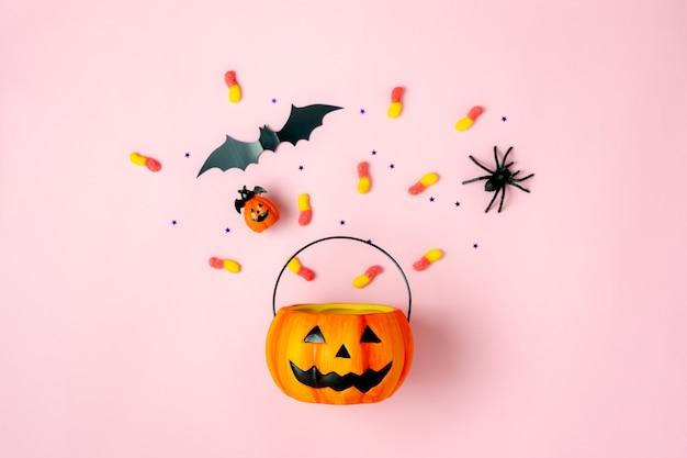 Imagen de decoraciones feliz día de halloween concepto de vacaciones.