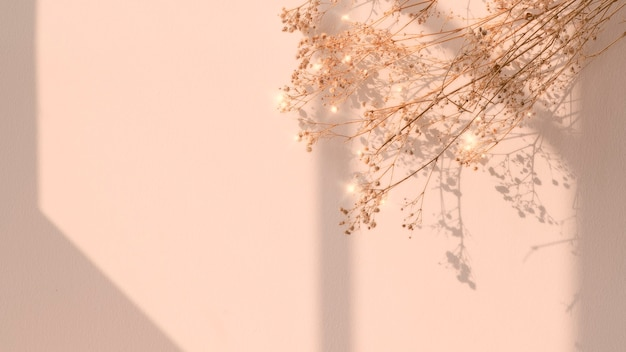 Imagen floral de sombra de ventana de flor seca