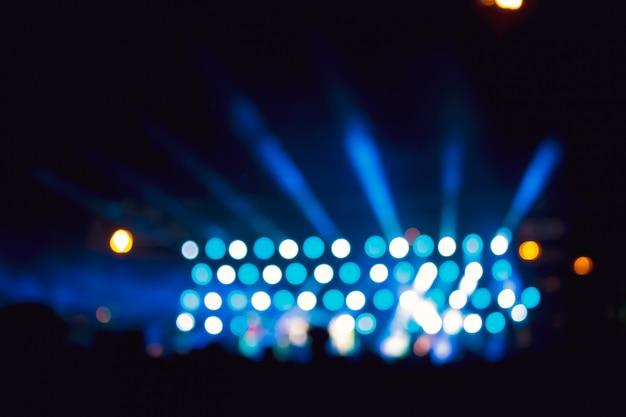 Imagen de fondo con luces de escenario desenfocado borrosas