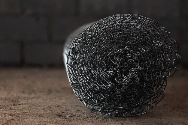 Imagen de fondo del rollo de malla de alambre