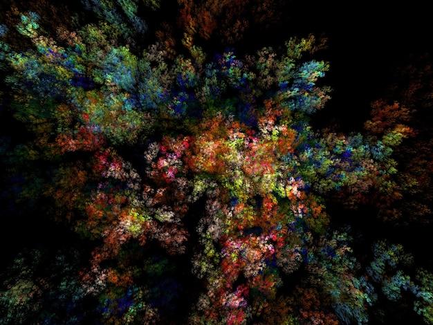 Imagen generada de textura fractal exuberante imaginativa resumen antecedentes