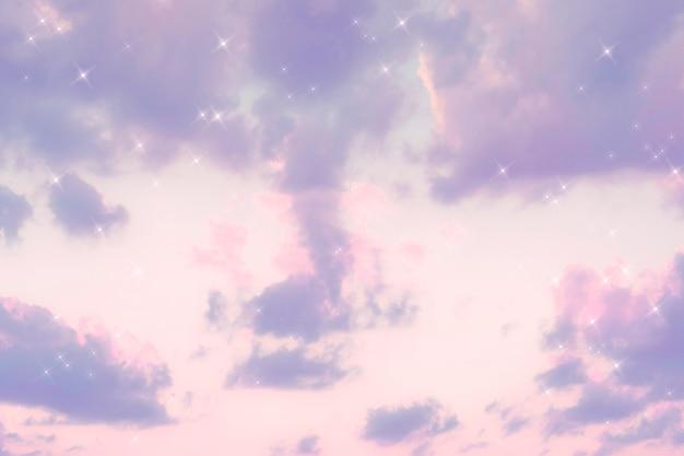Imagen púrpura pastel de nube de brillo