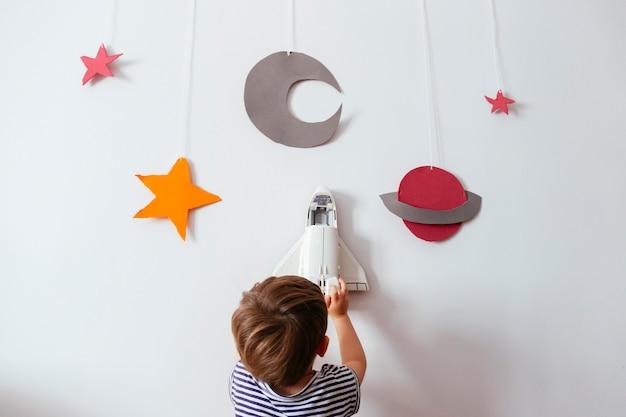 Imaginación y galaxia hecha a mano en casa.