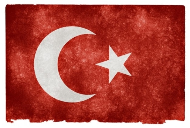 Imperio otomano grunge bandera