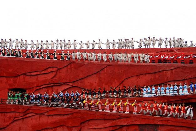 Impresión lijiang, un espectáculo cultural en la ciudad antigua de lijiang