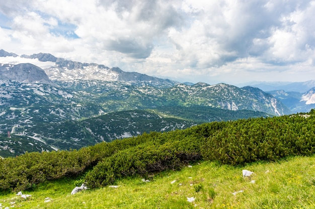 Impresionante escena de la pintoresca welterbespirale obertraun austria