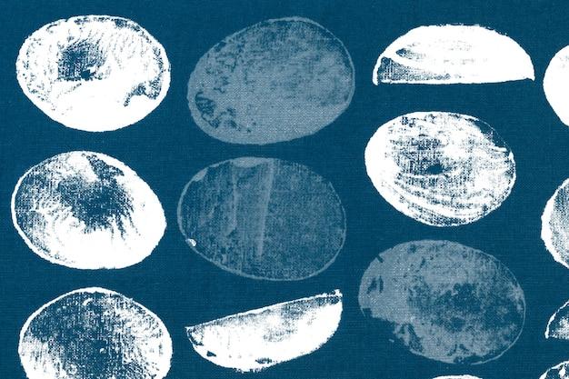 Impresiones de bloques de fondo de patrón de círculo azul
