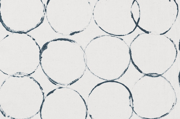 Impresiones de bloques de fondo de patrón de círculo blanco