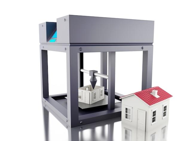 Impresora 3d imprime una casa.
