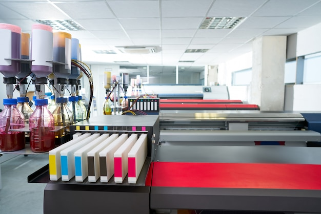 Impresora de papel de transferencia para industria textil.
