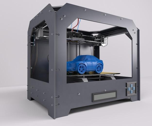 Imprimiendo un coche azul