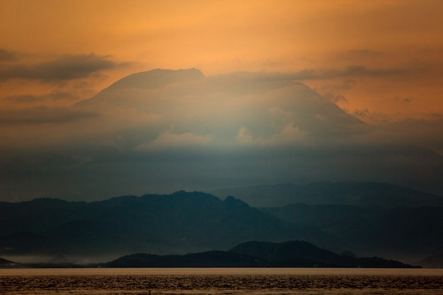Increíble vista del volcán.