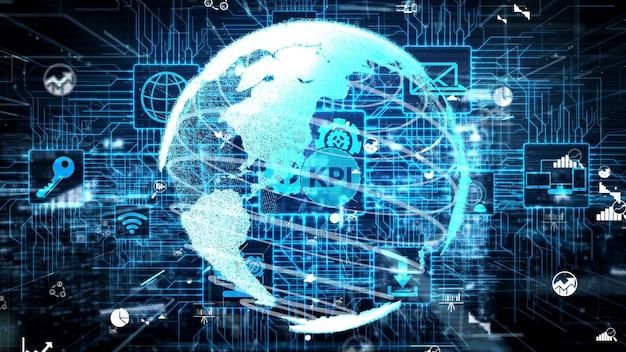 Indicador clave de rendimiento de kpi para el negocio conceptual