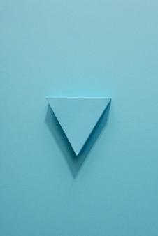 Indicador plano de flecha azul
