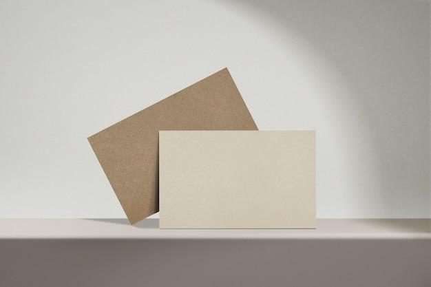 Industria ecológica de sostenibilidad de tarjeta de visita en blanco