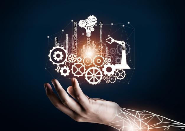 Industria futurista 4.0 concepto de ingeniería.