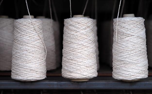Industria de hilos textiles.