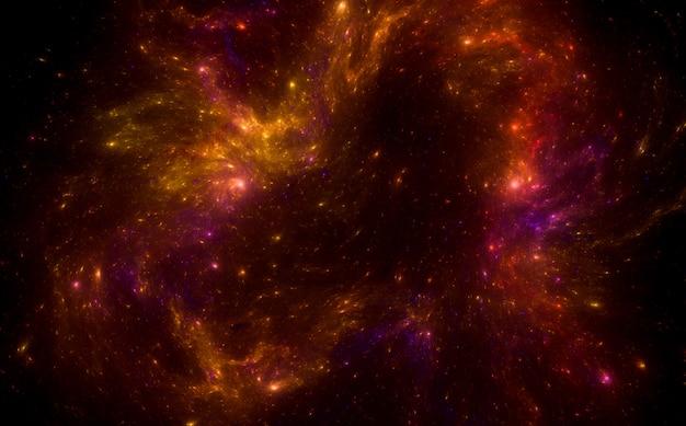 Infinito. campo de estrellas de fondo. magia amarillo púrpura resplandor cielo nocturno.