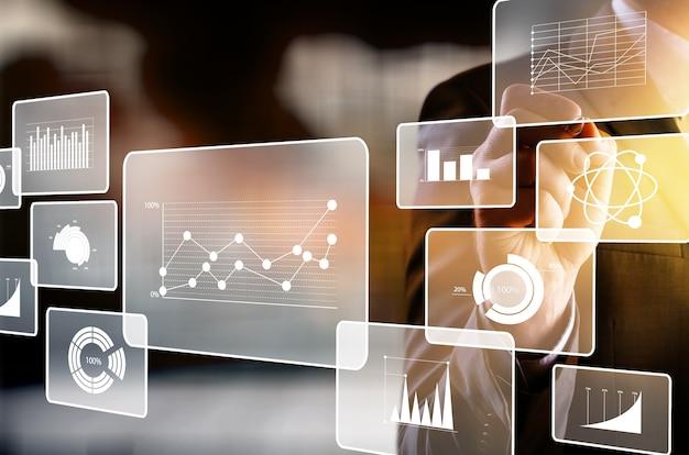 Infografía de comunicación, fondo de tecnología con iconos
