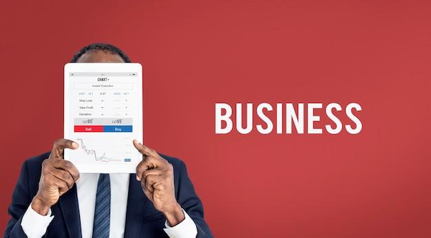 Informe de gráfico de negocios de forex financiero