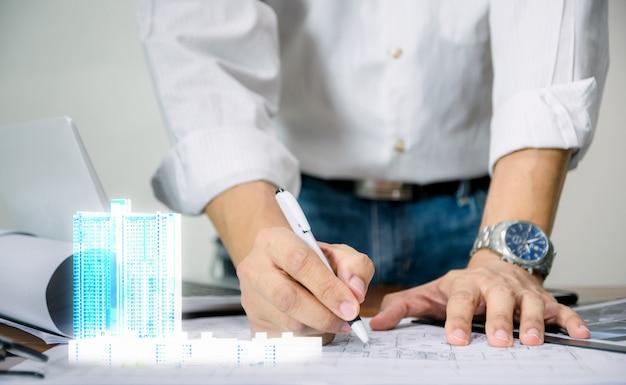 Ingeniero para el diseño del modelo de construcción de tecnología de visualización de planos de hoja
