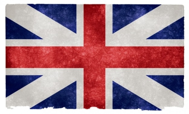 Inglés unión grunge bandera