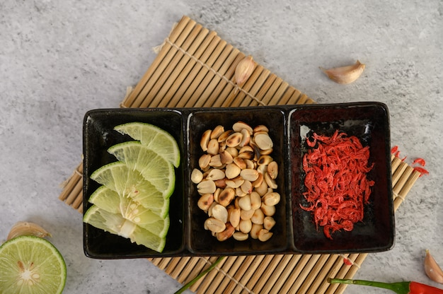 Ingrediente de ensalada de papaya