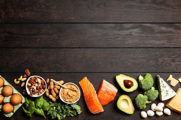 Ingredientes alimentarios de la dieta keto