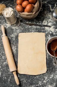 Ingredientes de cocina de primer plano
