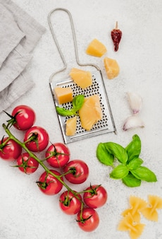 Ingredientes para comida italiana
