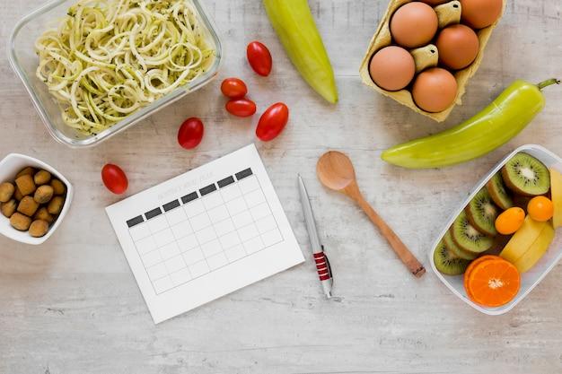 Ingredientes para una comida saludable.
