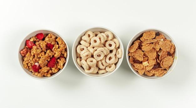 Ingredientes de desayuno de dieta saludable