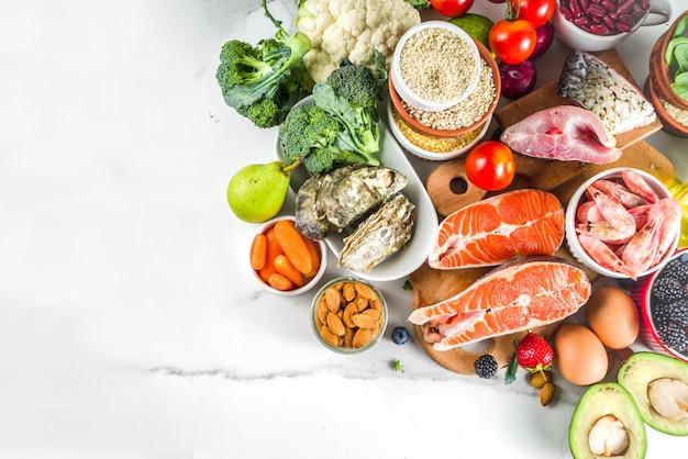 Ingredientes de la dieta de pescetarian