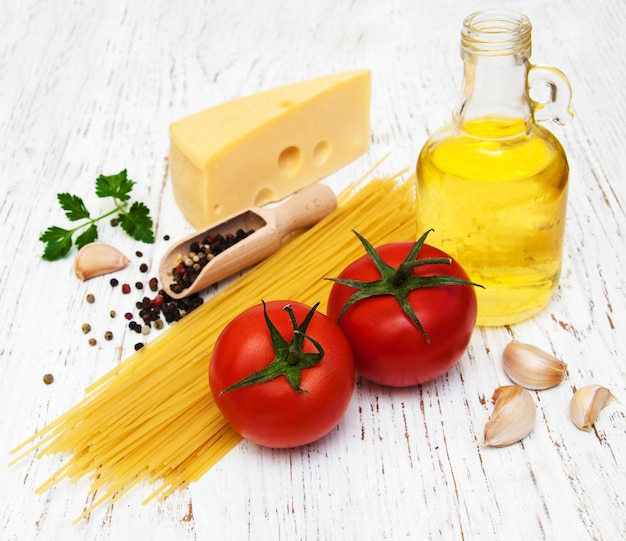 Ingredientes de espagueti