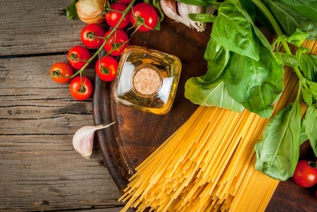 Ingredientes para hacer pasta
