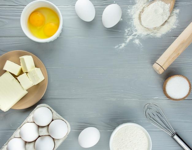 Ingredientes para hacer pasteles caseros