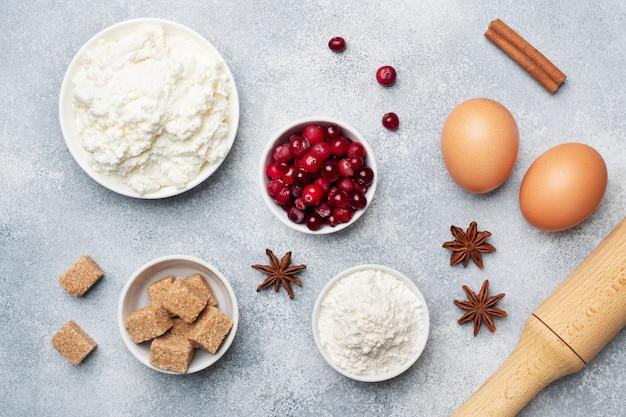 Ingredientes para hornear galletas, cupcakes y pasteles