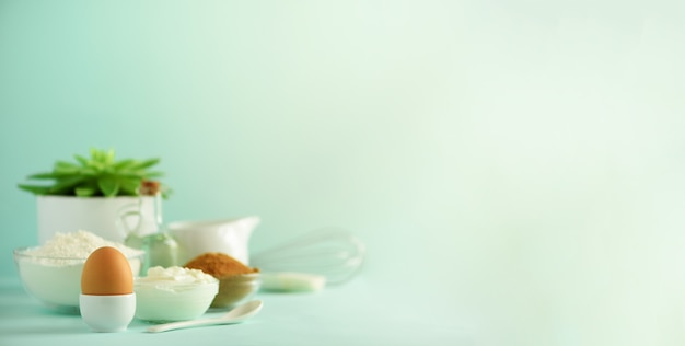 Ingredientes para hornear saludables