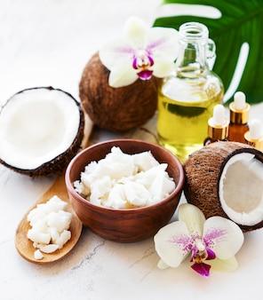 Ingredientes naturales de coco coco