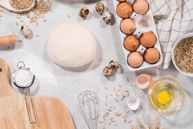 Ingredientes naturales para hornear.