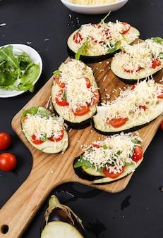 Ingredientes para pizza de berenjenas