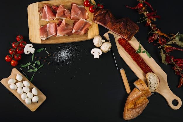 Ingredientes para plato sabroso
