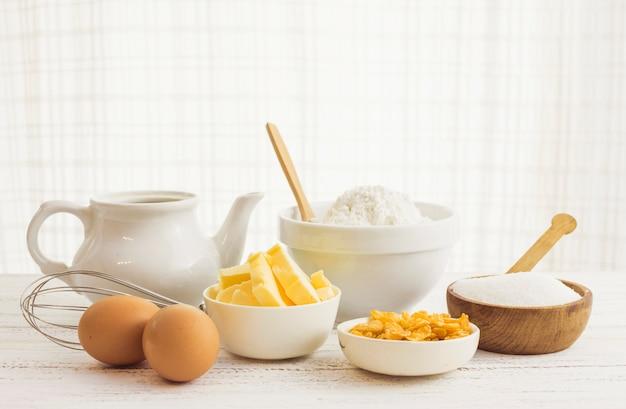 Ingredientes preparación masa