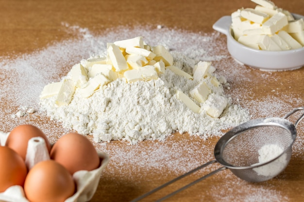 Ingredientes para preparar masa