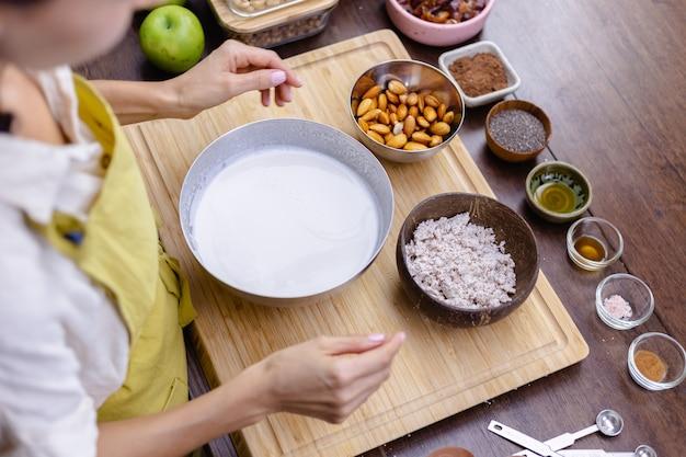 Ingredientes para el pudín de chía