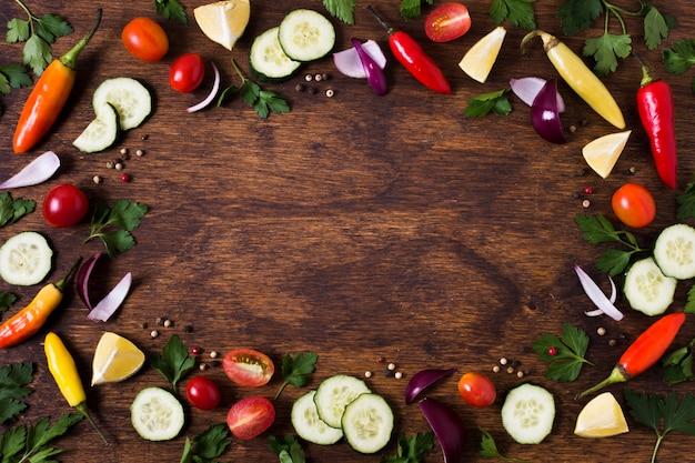 Ingredientes de sándwich de kebab árabe espacio de copia