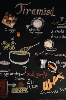 Ingredientes para tiramisú